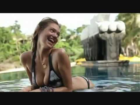 Bikini falls off swimming