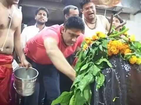 indian cricket team | coach |  Anil Kumble visit ujjain mahakal temple | क्रिकेट कोच