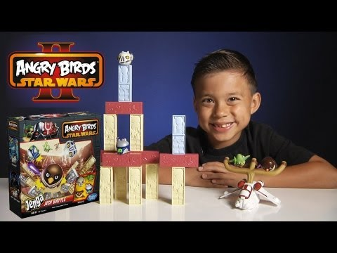 Jenga JEDI BATTLE GAME - Angry Birds STAR WARS II - Toys