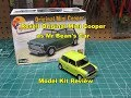 Revell 1/24 Mini Cooper Model Kit Build Review  as Mr Bean's Car 85-4035