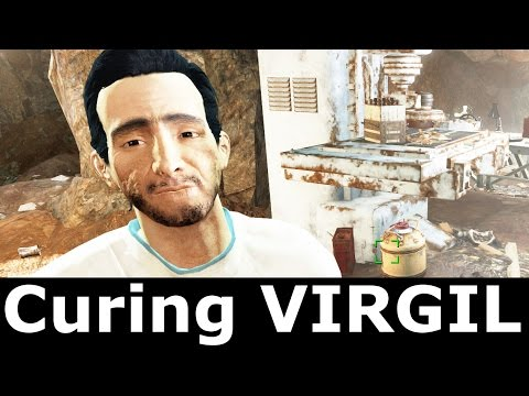 Fallout 4 - Giving Virgil His Serum / Curing Virgil (He Is Human Again)
