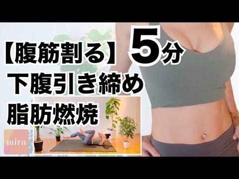 【腹筋割る】5分  下腹引き締め  脂肪燃焼