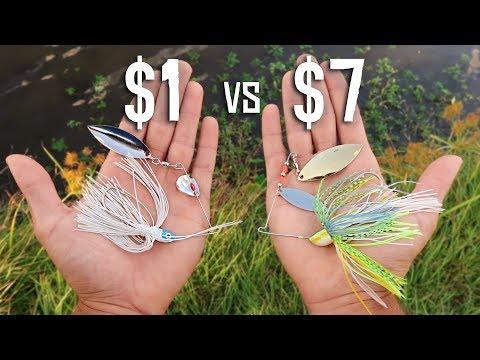 CHEAP vs EXPENSIVE Spinnerbait Fishing CHALLENGE!!! (Walmart)