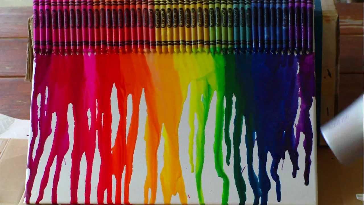 rainbow crayon melt youtube