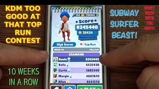 Best Score on Subway Surfers Top Run Week 39 Competition!