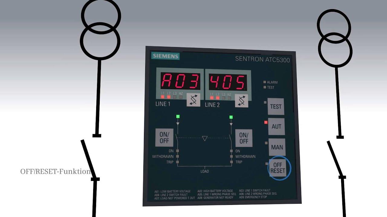 Siemens Netzumschaltsteuergerät 3KC ATC5300