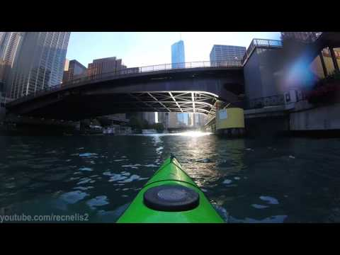 Kayaking Downtown Chicago River Loop: GOPro Hero4 Session
