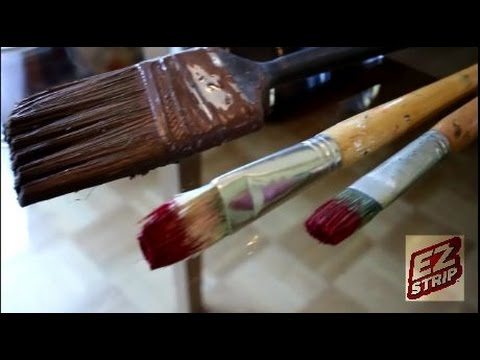 Clean Dried Paint Brushes