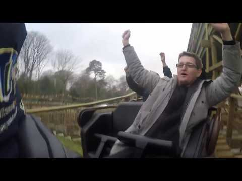 Riding Wicker Man at Alton Towers - Rider Cam POV