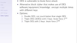 DES and Meet-in-the-Middle Attack (CSS322, L6, Y14)