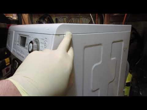как снять верхнюю крышку от стиральной машинки