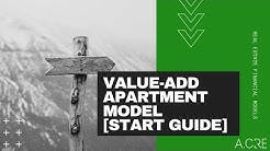 A CRE Value-Add Apartment Acquisition Model - Guide to Getting Started