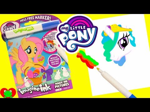 My Little Pony Magic Marker Games Fluttershy, Twilight Sparkle, Princess Celestia