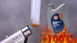 Gulf Formula G 5W40 How clean is engine oil? Test above 100°C