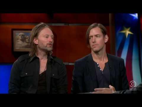 Thom Yorke & Ed O'brien (Radiohead) Interview, 2011(Colbert Report)