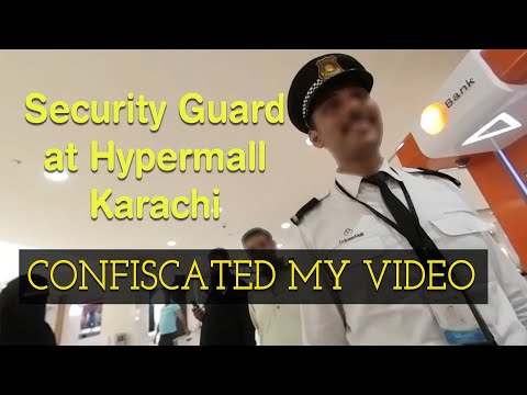 Security told me to stop filming at Hypermall - Dolmen Mall Clifton Karachi - 360 degree video