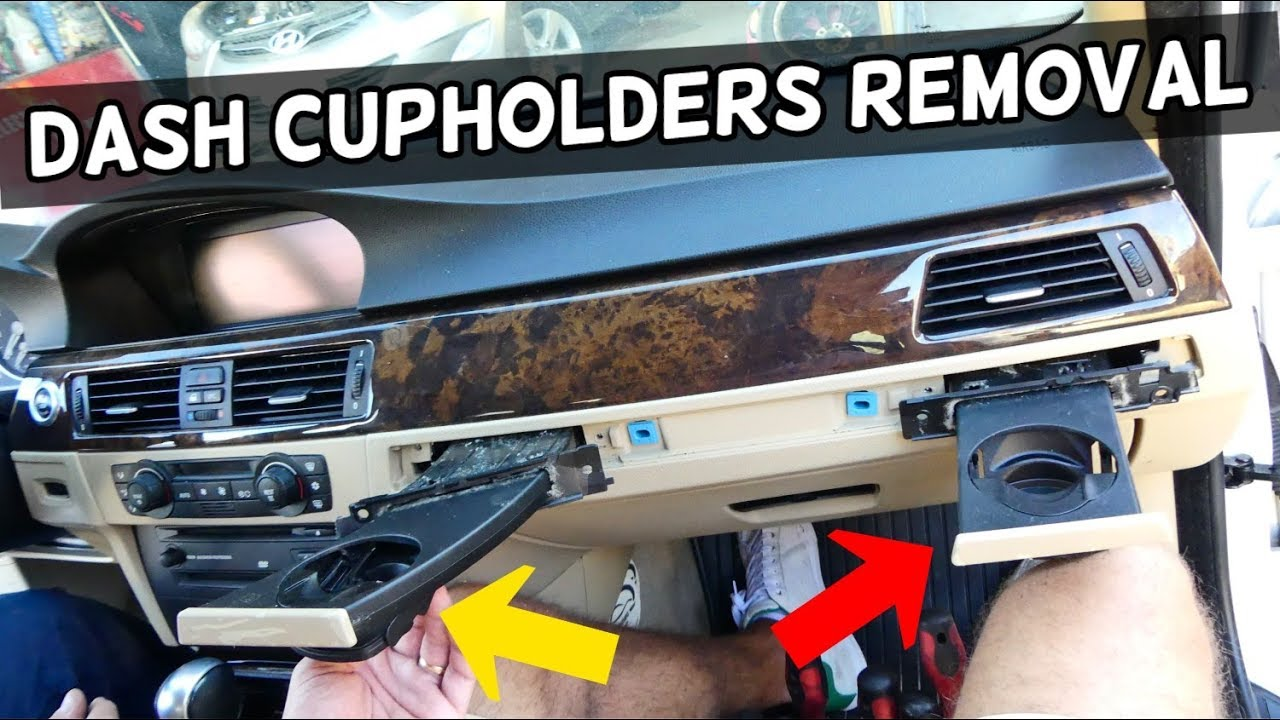 HOW TO REMOVE REPLACE CUP HOLDER ON BMW E90 E91 E92 E93 CUPHOLDER