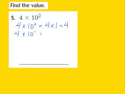Lesson 1.4 Powers of 10 and Exponents - YouTube