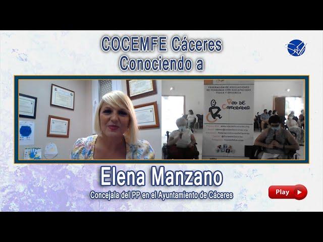 COCEMFE Cáceres. Conociendo a Elena Manzano