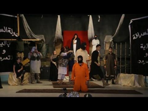 أخبار حصرية - دولة #السرافة تجسد حقيقة وحشية #داعش من خلال #المسرح