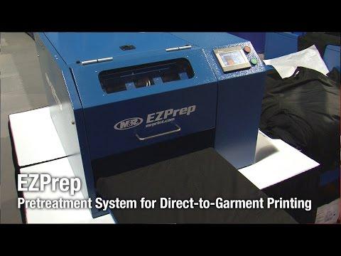 EZPrep pretreatment system • Stitch & Print