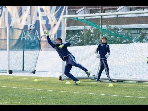Keeper training at Stabæk Fotbal club in Norway