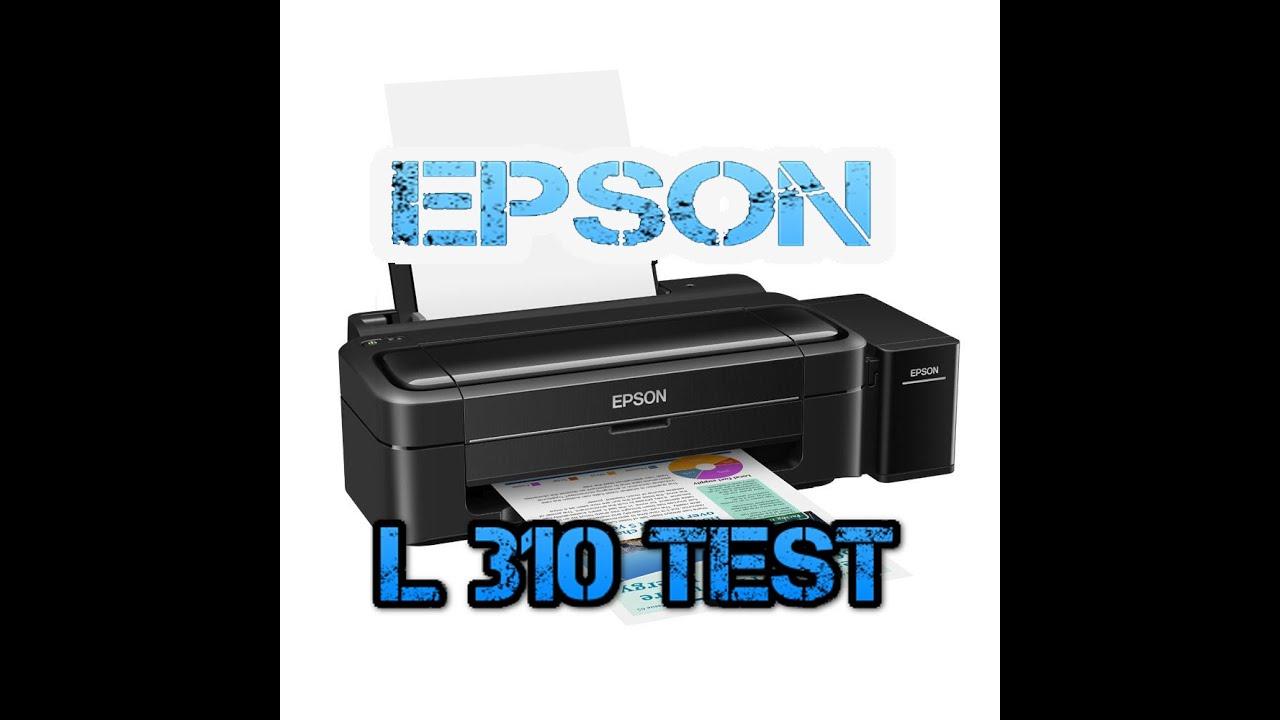 EPSON L310 Print Color Picture Test