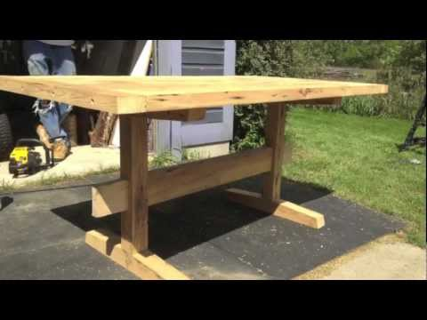 Building A Reclaimed Barn Wood Table YouTube - Barn wood picnic table