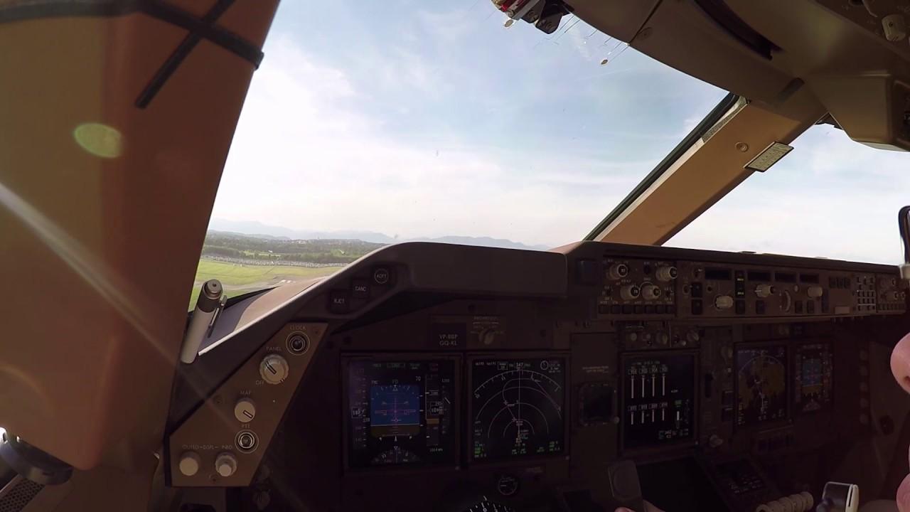 Взлет из Милана на Боинге 747-8f/Takeoff from Milan on Boeing 747-8f
