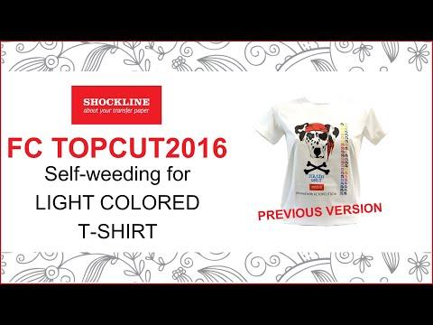 Shock Line -  Self-weeding (No Cut) transfer paper for light fabrics (code FC TOPCUT2016)