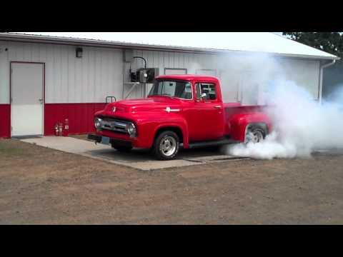 1954 Ford Pick-Up In Burnout Contest At Eagle Valley Speedway (Part 2)