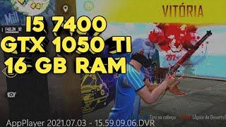 i5 7400 + 16gb RAM + GTX 1050ti🔥 FREEFIRE  F4ELZN  1280p