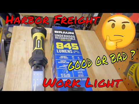 Harbor freight BRAUN 845 lumen work light