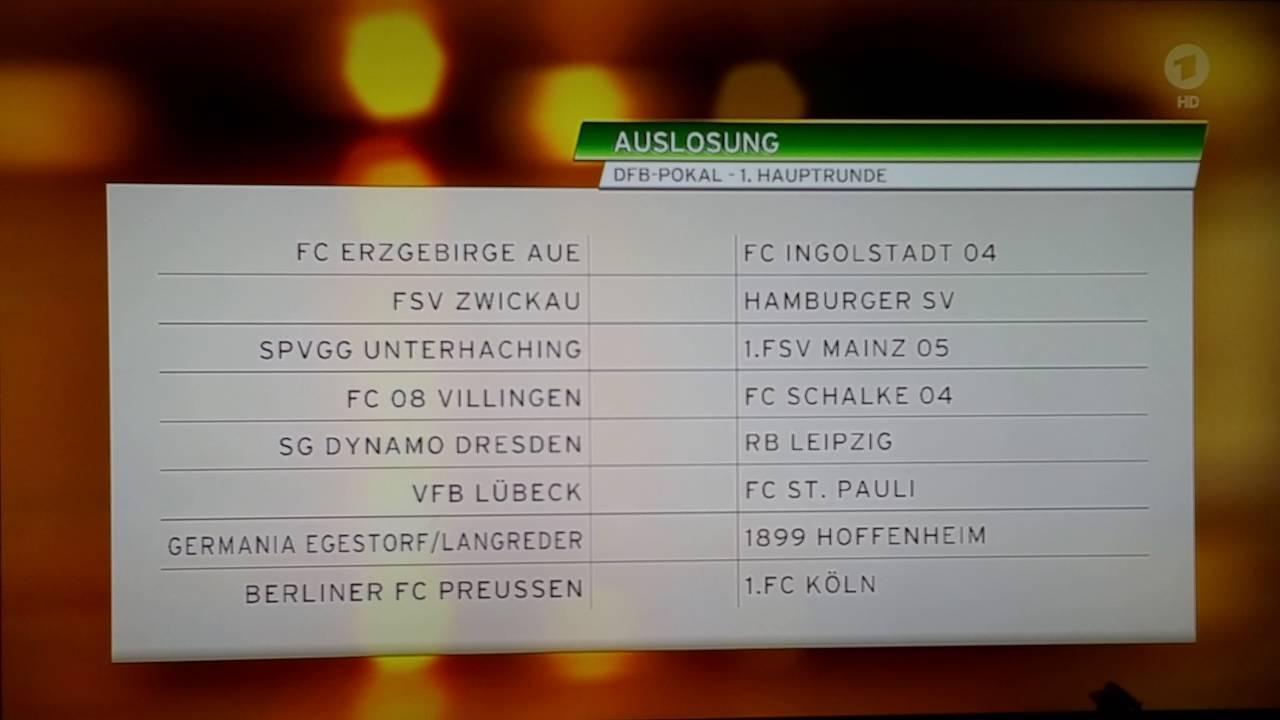 Auslosung Dfb Pokal 1 Runde