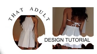 ◑ Diy Halter Skater Dress ◑