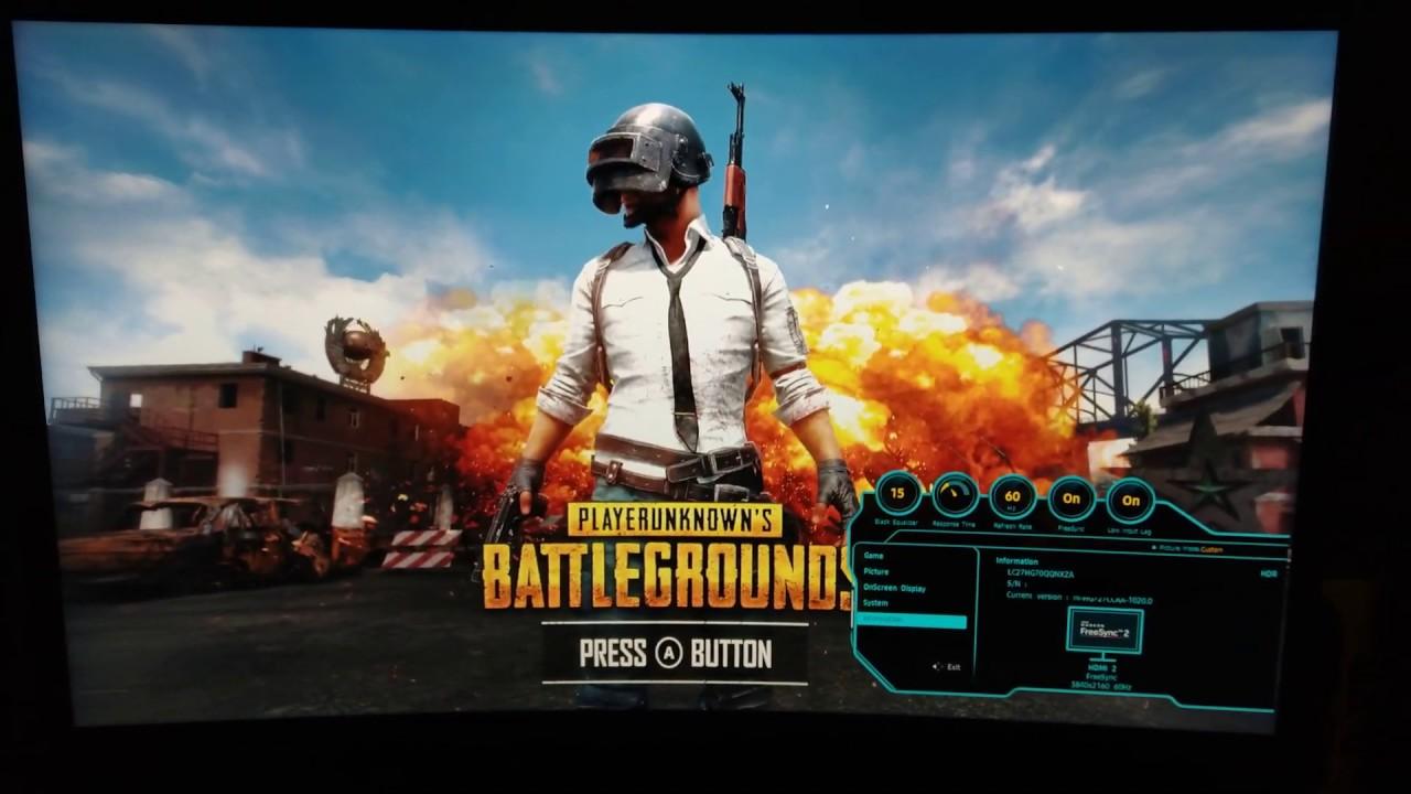Xbox One X and Samsung CHG70 settings
