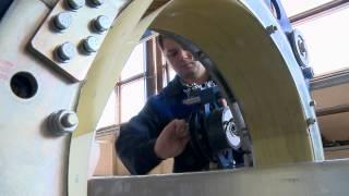 Испытания прототипов шинопроводов. ОАО «НИИЭФА им. Д.В. Ефремова», апрель 2014