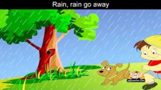 Rain Rain Go Away with Lyrics - Nursery Rhyme