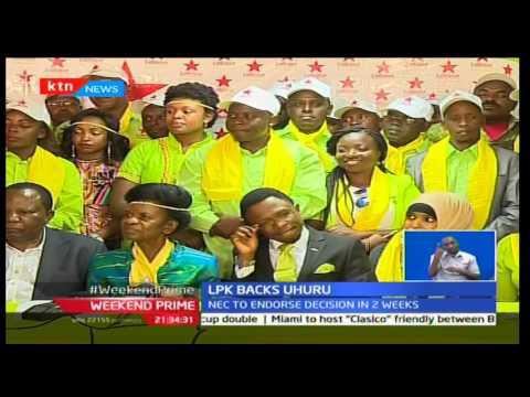 Labour party vow to back Jubilee presidential candidate incumbent president Uhuru Kenyatta