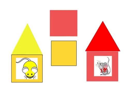 Дидактическая игра Спаси мышку (цвет)