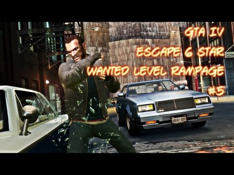 GTA IV - Escape 6 Star Wanted Level Rampage #5