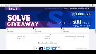 500$ Solve Token Bounty  Listed On Cointiger Exchange  100 Quantum Exchange token  Instant Received