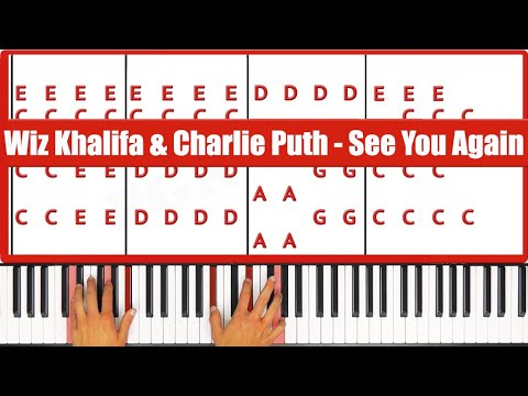 Piano piano chords see you again : ♫ ORIGINAL - How To Play See You Again Wiz Khalifa & Charlie Puth ...