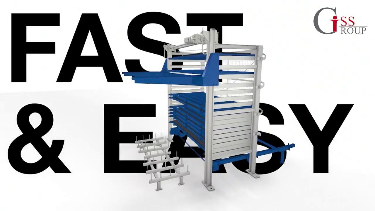Автоматизированная система хранения  STOPA Eco Plus XF/GF для листового металла