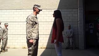 Soldier coming home  US Marine Surprises Family