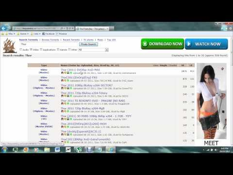 The Pirate Bay Tutorial (The Basics of Downloading)