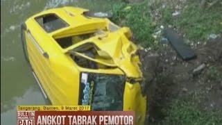 Ugal-ugalan, Angkot Tabrak Motor Dan Masuk Ke Kali Di Tangerang - BIP 10/03