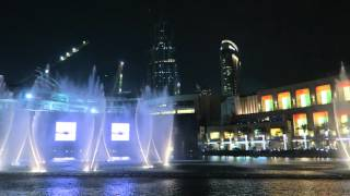 The Dubai Fountain (2016) - Burj Khalifa - Enrique Iglesias - Hero (HD quality)