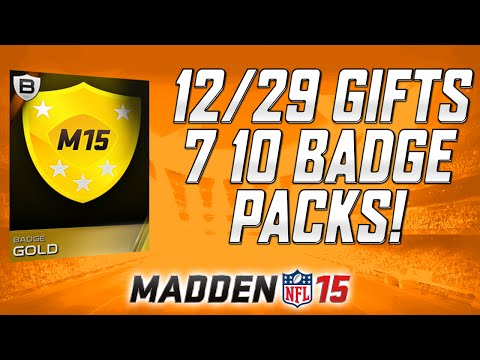 12/29 Gifts - 10 Badge Packs GALORE! | George Blanda & Quicksells | MUT 15