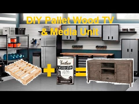 DIY TV Media Console From Reclaimed Pallet Wood
